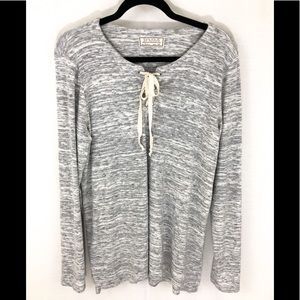❤️ 3/20 Gray Sinuous long sleeved top
